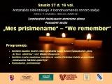 Sausio 27 d. minime tarptautinę Holokausto aukų atminimo dieną